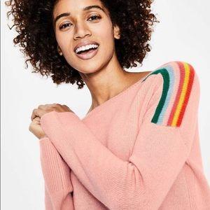 Boden Celia Cashmere Sweater Pink Rainbow